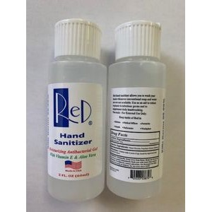 2oz Antibacterial Hand Sanitizer Gel,70% Alcohol (Blank)
